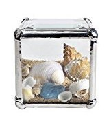 Beach Kaleidoscopes 2-inch Cube Beveled Glass Sandscape