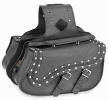 (River Road Zip-Off Quick-Release Saddlebag - Medium Slant Braided and Studded XF10-8990)