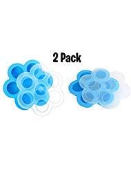 2 Pack Blue Silicone Egg Bites Molds for Instant Pot Accessories – Fits Instapot 5, 6, 8 qt Pressure Cooker, Freezer Accessory, Sous Vide Egg Poacher Ring