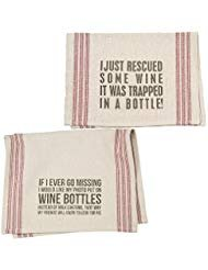 Wine Lovers Dish Towel Set | Bundle Includes 2 Towels