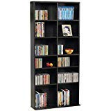 - 38435719 Oskar Media Cabinet for 464 CD or 228 DVD, Espresso