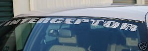 POLICE INTERCEPTOR Windshield Decal CROWN VICTORIA P71 FITS FORD