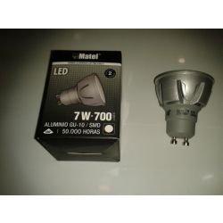 MATEL M285834 - Bombilla led gu10 dicroica smd 7w - 700 lumenes: Amazon.es: Hogar