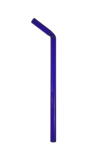 Simply Straws Bent Wide 12mm by 10-Inch Straw, Blue
