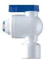Realgoal 1/4 tanque valvula de bola tubo NPT90 conexiones de enchufe conector tubo empuje RO agua osmosis inversa sistema de filtro puro (paquete de ...