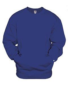 Badger Mens Athletic Fleece Pocket Crew (1252) -ROYAL -XL