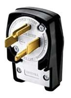 Hubbell HBL9462C Plug, Angled, 3 Pole, 4 Wire, 60 amp, 12...