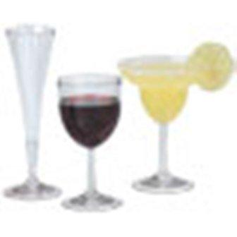 - Acrylic Wine, Flute, Martini Beverage Glasses/metal Base (10 oz Wine)