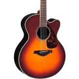 Yamaha FJX730SC Jumbo Solid Top Acoustic-Electric Guitar - Rosewood, Brown Sunburst