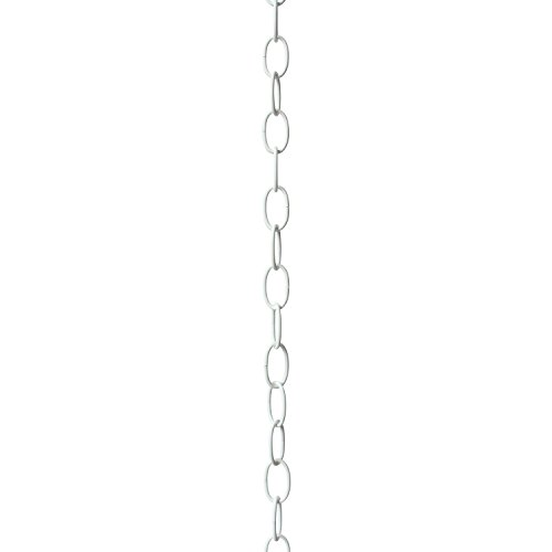 RCH Hardware CH-S56-12-WHT-3 | 10 Gauge Decorative Solid Steel Standard Link Fixture Chain | 3 Foot Increments |White (Fixture Chain 3 Foot)
