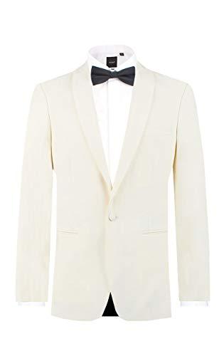 Dobell Mens White Tuxedo Dinner Jacket Regular Fit Shawl Lapel-44R