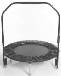 Needak Folding Hard-Bounce rebounder Black w/Stabilizing Bar - R03-05 ()