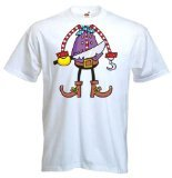 Tribal T-Shirt Men's Pirate Boy Outfit Costume Fancy Dress T-Shirt Large (Mw3 Costumes)