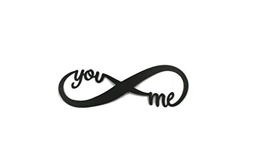 81 Metal Art Powder Coated Infinity You & me (Matte Black, 16