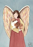 Sheltie (Shetland Sheepdog) and Angel / Lynch folk art print