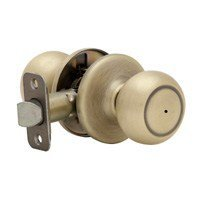 Kwikset ZZ730C 5 RCAL RCS Copa Bed-Bath Knob in Antique Brass