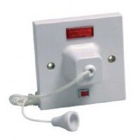 double pole by S-LINE 45 amp shower switch ceiling pull cord comes with 44mm surface backbox