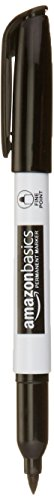 AmazonBasics Permanent Markers - Black - Pack of 12