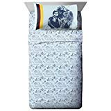 Star Wars Han Solo Vehicle Stripe Twin Sheet Set - 3 Piece Set Super Soft Kid's Bedding Features Millenium Falcon - Fade Resistant Polyester Microfiber Sheets (Official Product)