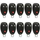 Car Key Fob Keyless Entry Remote fits Chevrolet, Buick, Pontiac, Saturn (15114374), Bulk Lot of 10