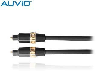 Auvio 6-Foot Fiber Optical Audio Toslink Cable (Plugs Cover Ignition)
