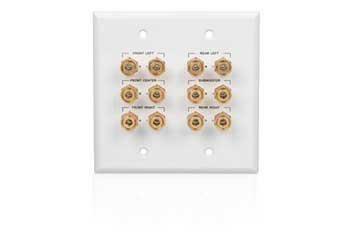 Wall Plate with 12 Gold-Plated Binding Post Connectors RadioShack 40-995