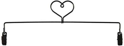 - Ackfeld Manufacturing 35652 12in Heart Clip Holder Hanger, Charcoal