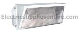 350w Mh Wall - RAB Lighting WP4H350PSQW Wall Pack 350W MH PSQT Pulse Start HPF Glass Lens Lamp White