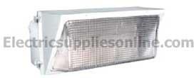 RAB Lighting WP4H350PSQW Wall Pack 350W MH PSQT Pulse Start HPF Glass Lens Lamp White