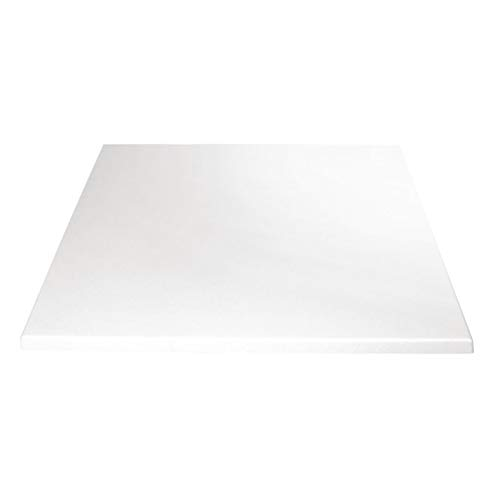 Bolero Square Table Top White 700mm White. 700x 700mm by Bolero
