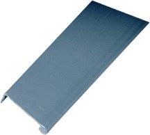 Extruded Aluminum Pulls Series, Aluminum Pulls, 6 Length, 1/2''H x 1-1/4''W, Clear Anodized Aluminum Finish