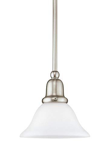 Sea Gull Lighting 61060EN3-962 One Light Mini-Pendant, Brushed Nickel