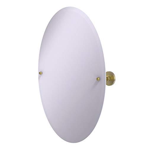 Allied Brass P1091 Frameless Oval Tilt Beveled Edge Wall Mirror, Satin -