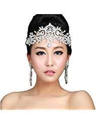 - Lady Rhinestone Wedding Bridal Head Wear Hair Band Headdress Chain Jewelry Decoration-NO.421