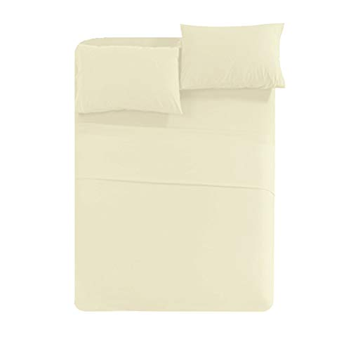 """Egyptian Sheet Set by New York Mercado-Luxury Hypoallergenic Ultra-Soft Cozy 6-pc Elegant Bedsheet set with 800 TC And Double Sided Storage Pockets Fits Up to 21"""" deep pocket(Twin-Ivory)"""
