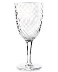 (Home Design Studio Clear Acrylic Drinkware Collection Wine Glass)