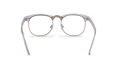 81996b590fae Outray Vintage Retro Classic Half Frame Horn Rimmed Clear Lens Glasses for  Men Women 2135c5 Transparent