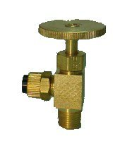 1/4'' Poly x 1/8'' MPT Right Angle Needle Valve