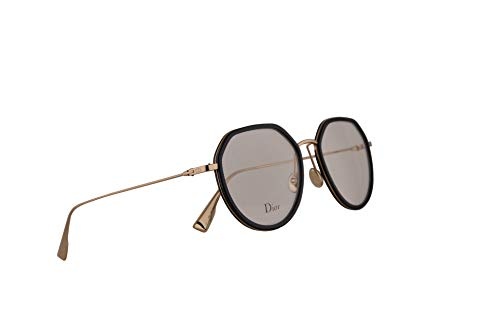 Christian Dior DiorstellaireO9 Eyeglasses 50-18-145 Black Gold w/Demo Clear Lens 2M2 StellaireO9 DiorStellaire ()