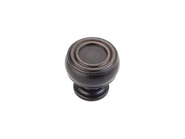 Jeffrey Alexander 127DBAC Knob Bremen 2 Collection, Brushed Oil Rubbed Bronze