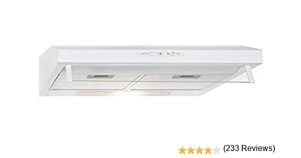 Bomann DU622 - Campana extractora 60 cm, recirculación de aire o por conducto, 3 niveles potencia, filtros extraibles de aluminio lavables, blanca: Amazon.es: Grandes electrodomésticos