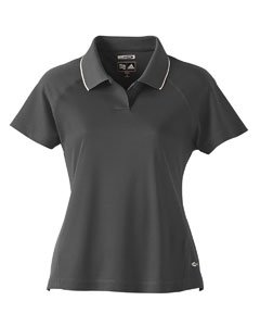 Adidas Golf A09 ClimaCool Ladies Mesh Polo - Black/White - X-Large