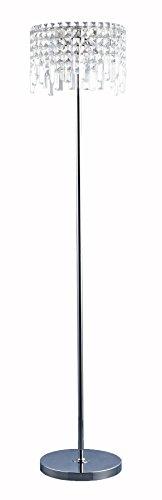 Lite Source EL-90127 Helanie Floor Lamp, Chrome with Crystal