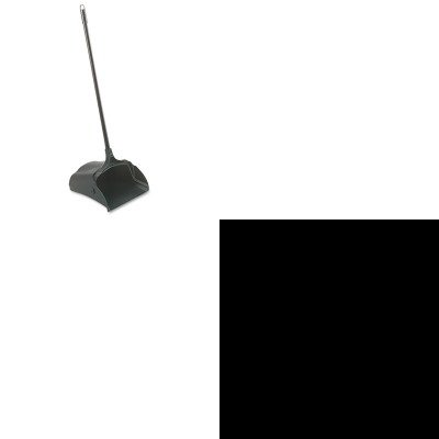 KITRCP253100BKRCP421588BLA - Value Kit - Brushless Sweeper (RCP421588BLA) and Rubbermaid-Black Lobby Pro Upright Dust Pan, Open Style (RCP253100BK) by Rubbermaid