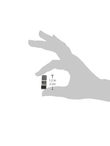 M/étal axentia 292206 Set de 10 Clips pour Bocaux 9,4 x 10,8 x 0,2 cm Argent