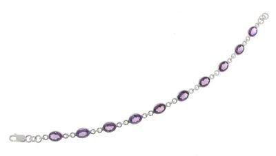 Bracelet Argent 925 Amethyste ref 27851
