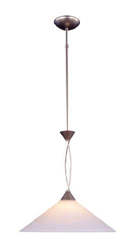 Elk 6500/1 1-Light Pendant in Satin Nickel and Tea Swirl Glass