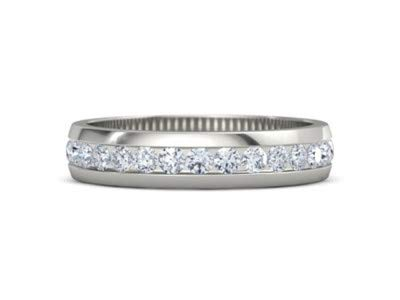 - Addamas Eheringe aus massivem Platin, 0,84 Karat echter Diamant 950