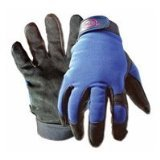 Boss Gloves 890X Extra Large Black and Blue Boss Guard Leather Gloves