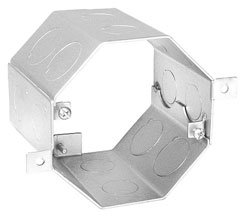 3-1/2 Inch Deep Octagon Concrete Box with 8 1/2 Inch & 8 3/4 Inch Side Knockouts ()